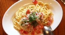 トマト&シラスの冷製パスタ